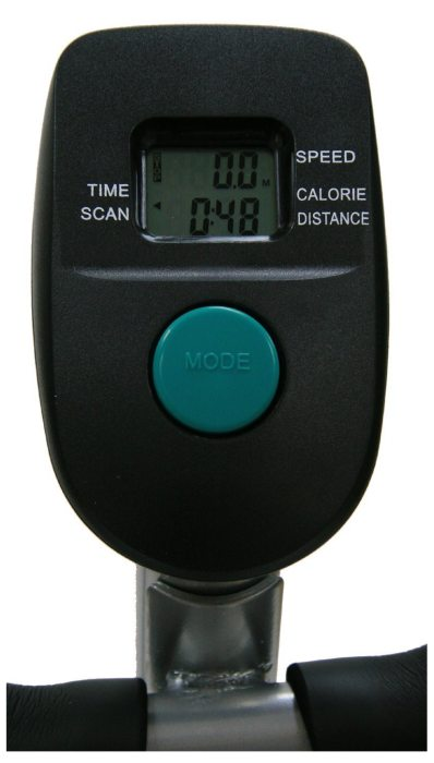 The display console is useful for providing basic feedback on your workout, including time, distance, and speed