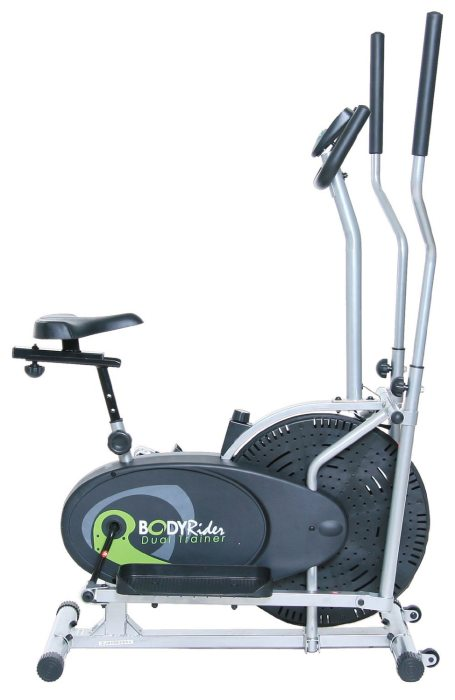 Combining an elliptical machine with the seat of an exercise bike provides added variation to your cardio workouts