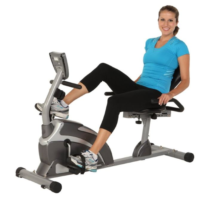 The Exerpeutic 900XL was awarded one of our best recumbent bike reviews