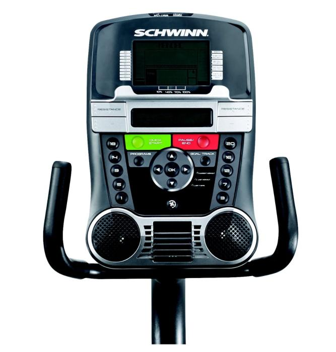 The Schwinn 230 Recumbent Bike display console features 2 LCD screens, allowing you to track a greater range of workout metrics