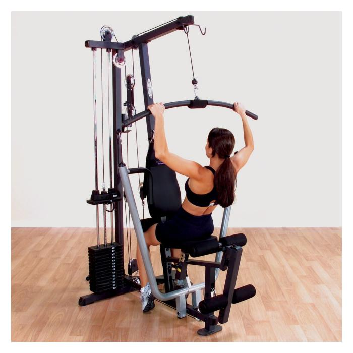 Having the extra set of padded rollers allows you to use heavier weight on the lat pulldown without moving around in the seat