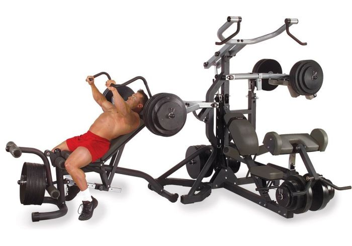 Body Solid SBL460P4 chest press station