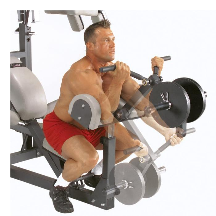 The Body Solid SBL460P4 includes a preacher curl pad for if you want to isolate your biceps