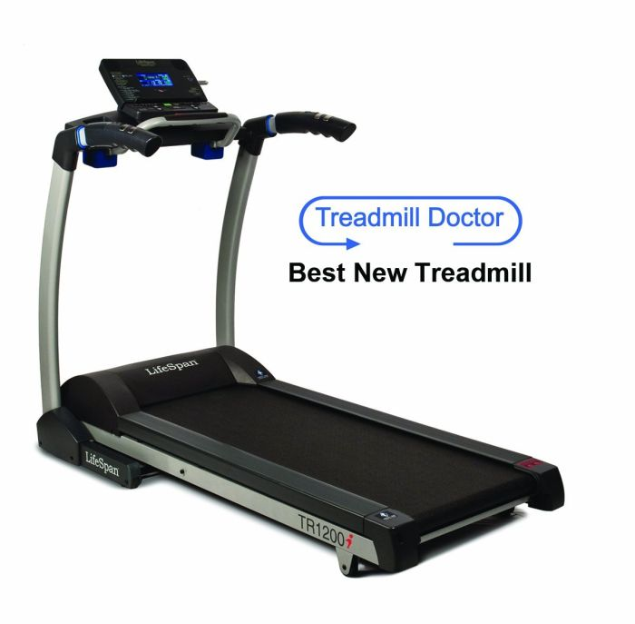 The LifeSpan TR 1200i provides a range of training options, each designed with specific goals in mind