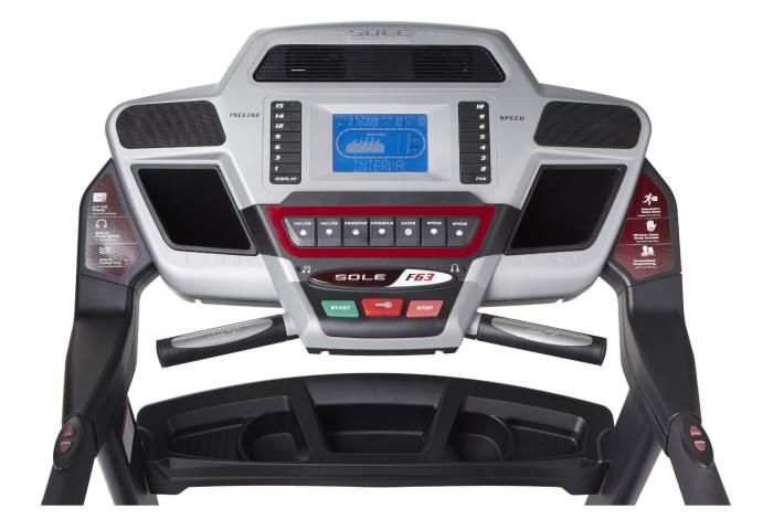 The large display console includes speakers and a cooling fan to help make your workouts more enjoyable