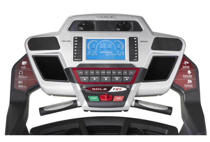 The Sole Fitness F85 display console includes a larger screen than the earlier F80 model