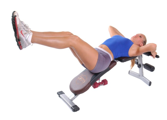 The CAP Barbell FM-504 workout bench can support dozens of exercises, from shoulder presses to decline sit ups