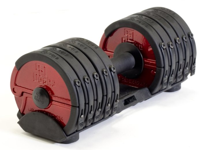 Many adjustable dumbbell sets come with their own special system for selecting weight plates.