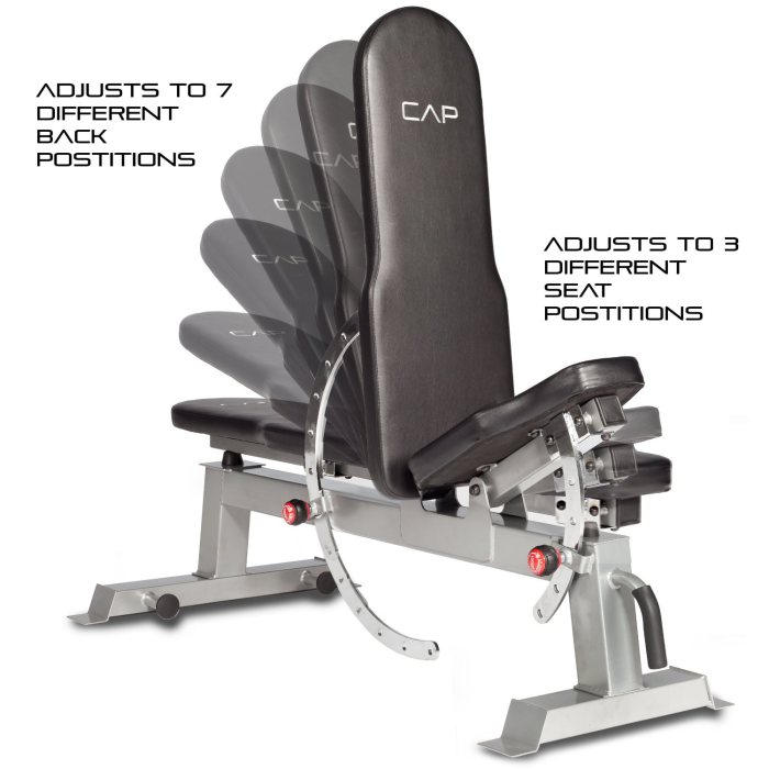 Although incline and flat positions are available, this isn't a bench that gives you a decline setting
