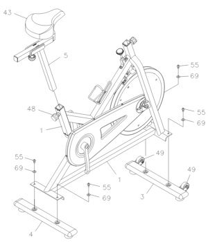 The user manual provides clear instructions for the assembly, which shouldn't take much more than 20 minutes