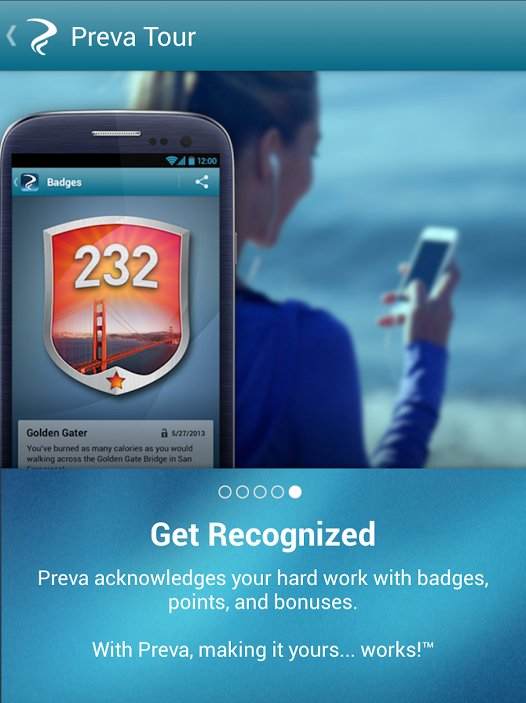 The Preva fitness app can be used to track your workout data, both on and off the elliptical
