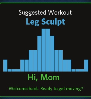 User profiles can be created which enable the console to make suggestions as to the best workout for your goals