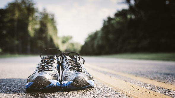 Shoes with a low-profile heel of around 4mm are best for racewalkers