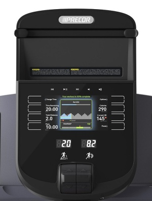 The Series 40 console features touch capacitive buttons and lever motion controls for a more intuitive workout experience