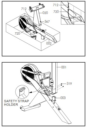 Assembly instructions in the user manual for the VR500 are clearly explained and easy to understand