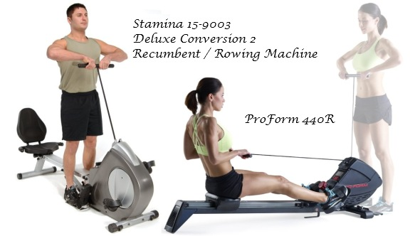 Some rowing machines combine cable exercises with seated rowing