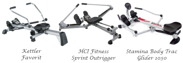 Hydraulic resistance rowing machines