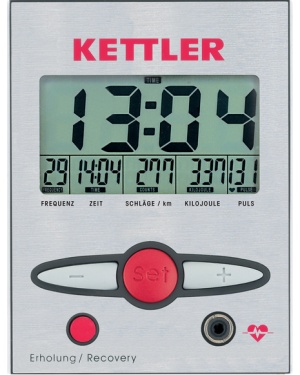 Kettler's display console design is larger and easier to read than lower priced models