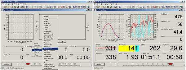 RowPerfect3 Session Analysis (SEAN) software from Row-Ware