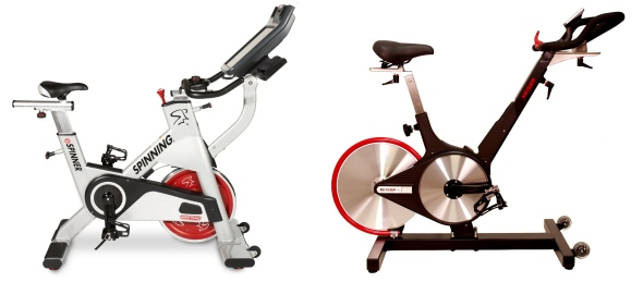Indoor cycling bikes and spinning bikes have one of two drive systems; chain and belt