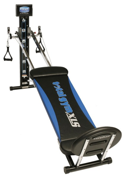 The Total Gym XLS is one of our top choices for a compact home gym system