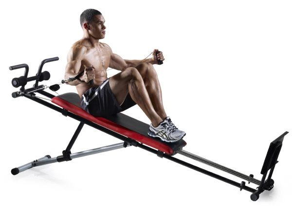 Ultimate Body Works supports a variety of exercises that train your glutes, abs, legs, arms, chest, back, and shoulders