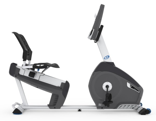 A well cushioned, contoured seat provides added comfort compared to indoor cycling bikes