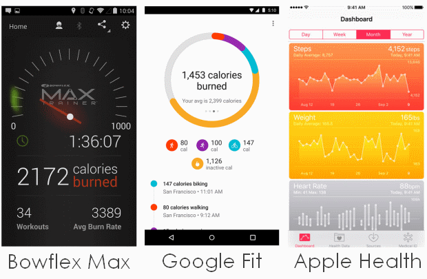 M5 workout data can sync to a range of fitness apps, including Max Trainer, Google Fit, and Apple Health