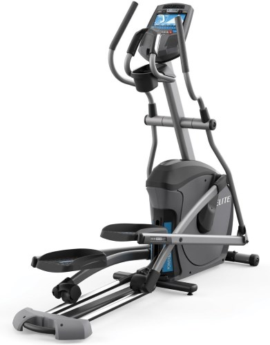 The Elite E7 elliptical features their SixStar Certified frame