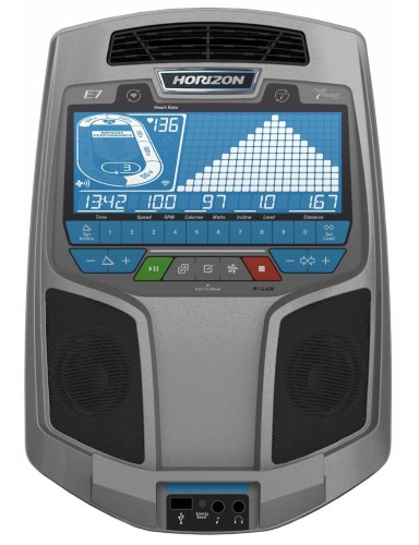 The Horizon Elite E7 features a Passport Ready console with blue backlit LCD display