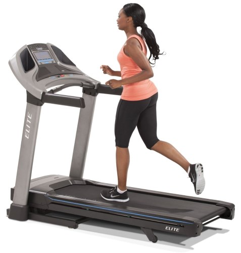 The Elite T7 treadmill features an extra large 20-inch x 60-inch running area