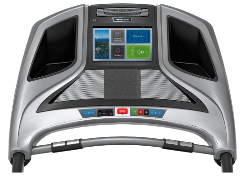 The Elite T9 treadmill features a 10-inch touchscreen display