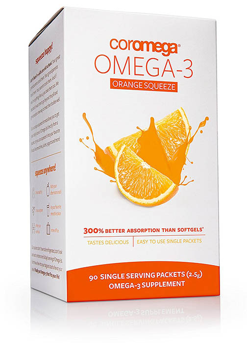 Coromega Omega-3 Squeeze Packet Supplement