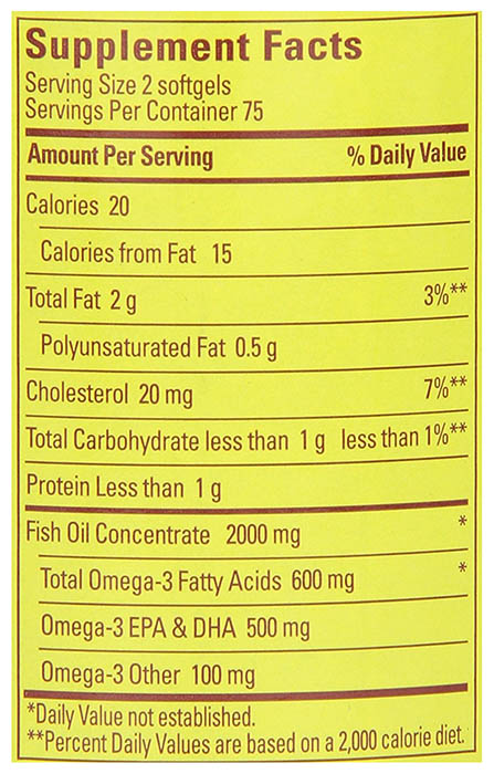 Nature Made Fish Oil Ingredients