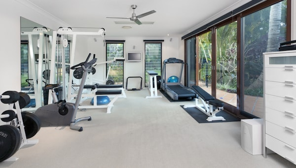 Luxury Home Gym with Weight Bench, Treadmill, and Multi Gym