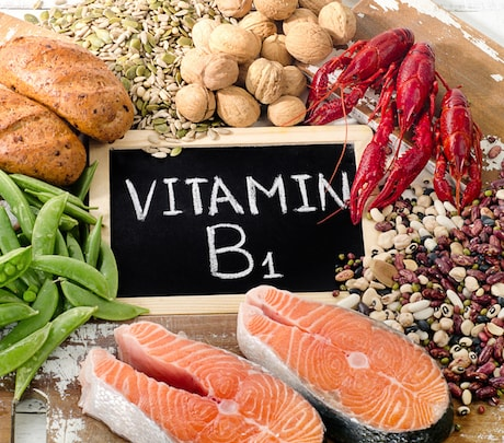 Foods with a high amount of vitamin B1