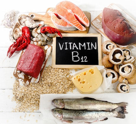 Foods with a high amount of vitamin B12