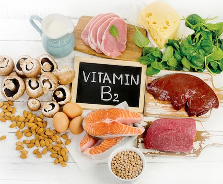Foods with a high amount of vitamin B2
