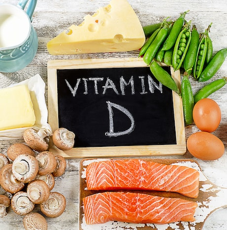 Foods with a high amount of vitamin D