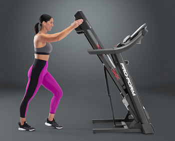 The ProForm Carbon T10 is one of the best compact treadmills on the market