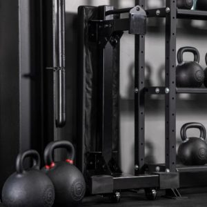 Rogue Monster Bench 2.0 stored vertically