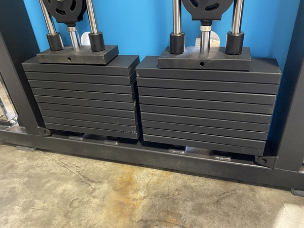 French Fitness Mirror Functional Trainer weight stacks